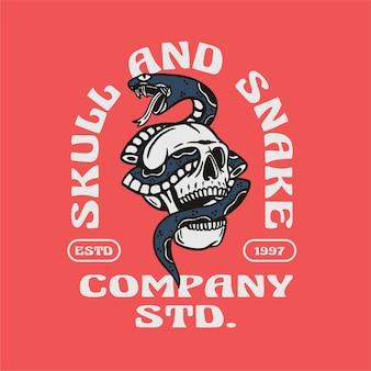 Skull and snake editable text