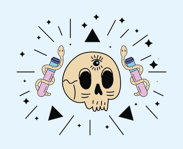 Skull and snakes in spells