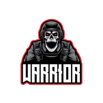 Skull soldier warrior esport logo