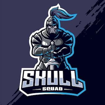Skull squad esport logo design
