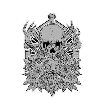 Skull for t shirt design