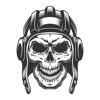 Skull in the tank helmet