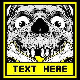 Skull.vector hand drawing,shirt designs, biker, disk jockey, gentleman