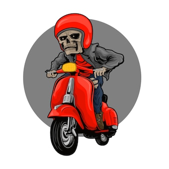 Skull vespa animation