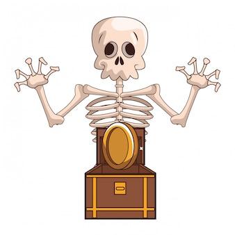Skull videogame cartoon