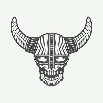 Skull in viking helm
