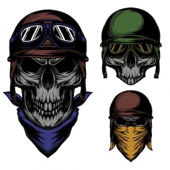 Skull vintage rider