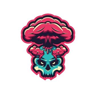 Skull volcanos illustration premium