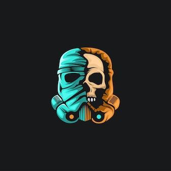 Skull war helmet