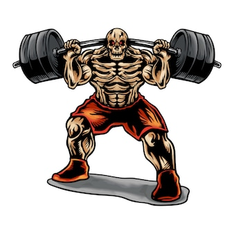 Skull weightlifting