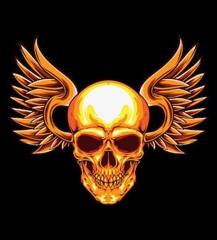 Skull wing vector