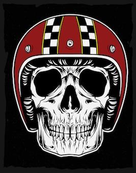 Skull with classic helmet