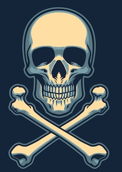 頭骨が交差した頭蓋骨