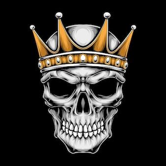 王冠のロゴが付いた頭蓋骨