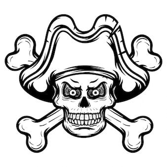 모자 디자인 두개골