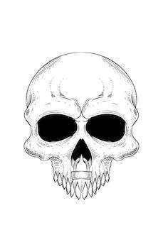자물쇠 벡터 일러스트와 함께 두개골