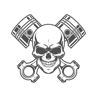 Skull with pistons emblem.