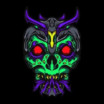 Skull zombie head