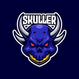 Skullere-sportsロゴテンプレート