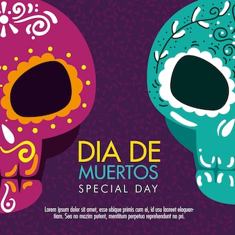 死者の日を祝うための頭蓋骨の装飾