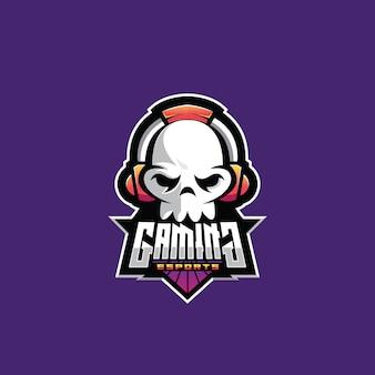 Skulls logo template