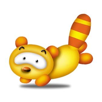 スカンク漫画かわいい動物野生ペットバービーキャラクター人形甘いモデル感情アート