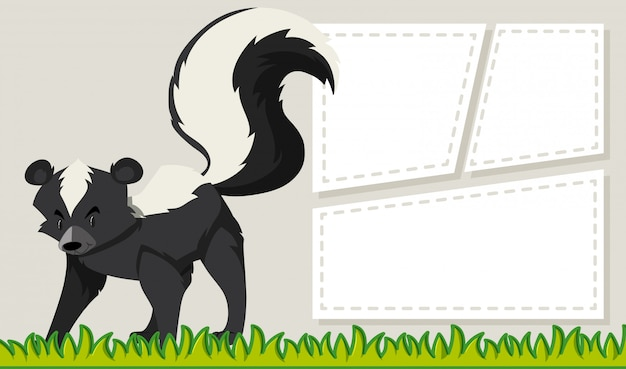 A skunk note template