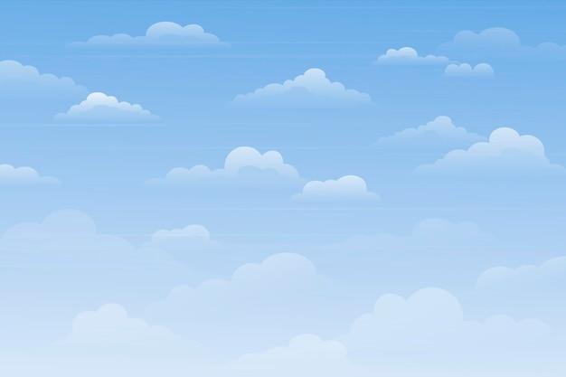Небесный фон для темы видеоконференцсвязи