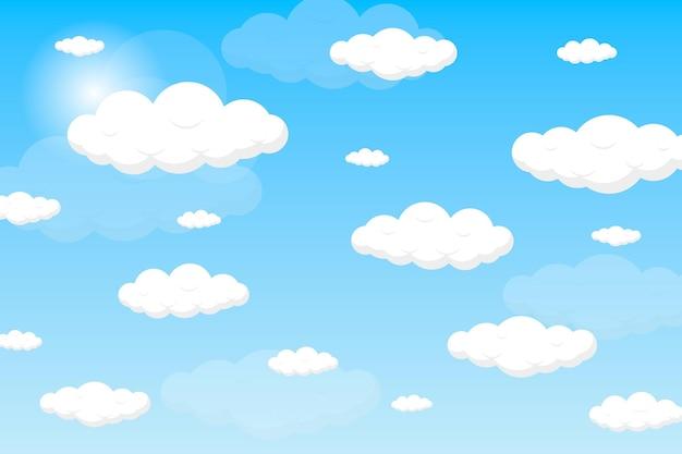 Небесный фон для видеоконференций