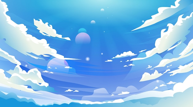 Небо - фон для видеоконференцсвязи