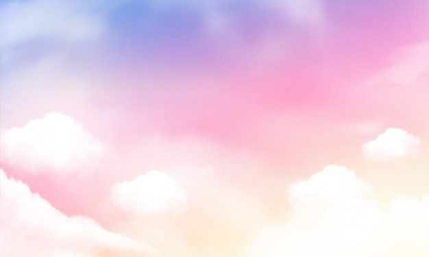 Sky background and pastel color.
