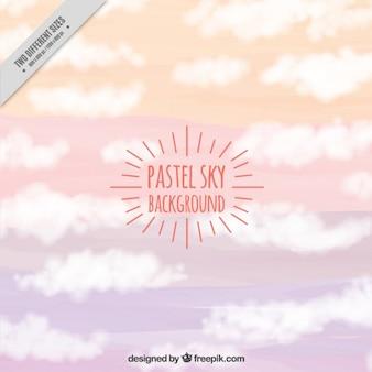 Cielo di sfondo in colori pastello