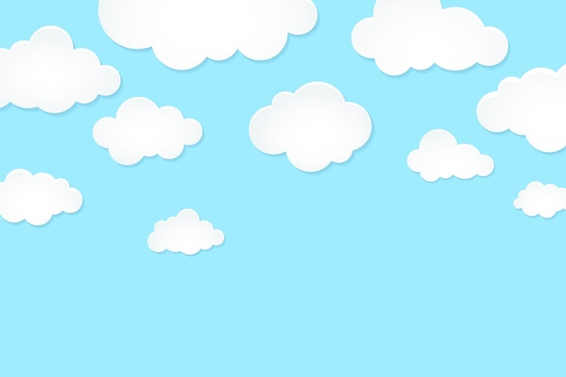 Sky background, pastel paper cut style vector