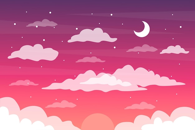 Sky background theme