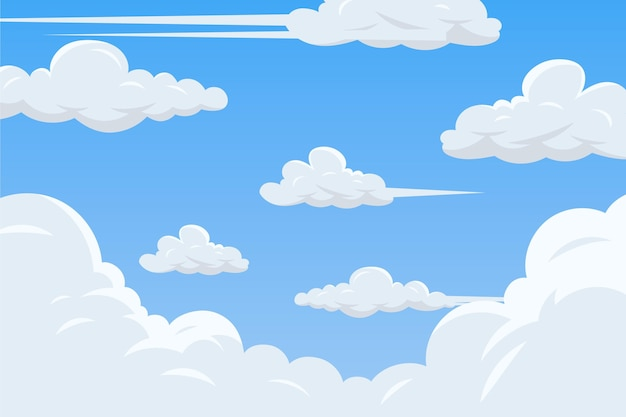Sky background for video conference theme