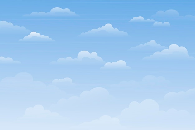 Sky background for video conferencing theme
