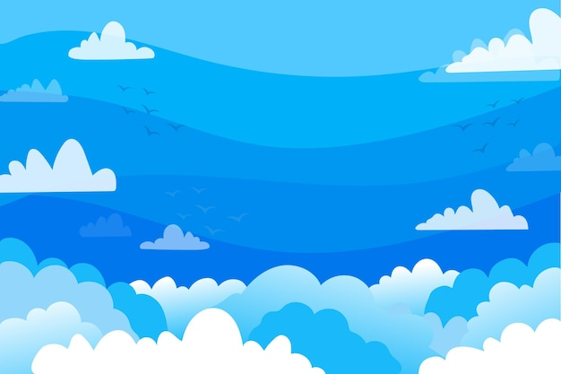 Sky background for video conferencing