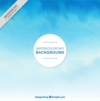 Sky background with watercolor effect