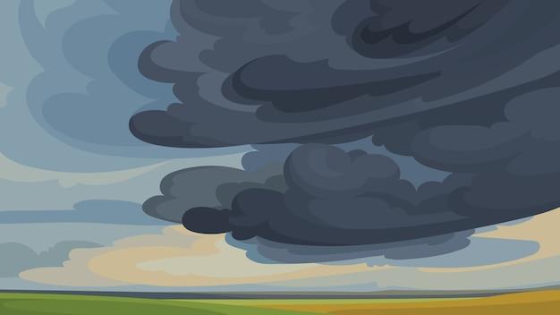 Небо перед бурей. красивые пейзажи природы.