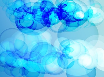 Sky blue bubbles effects background