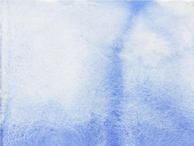 スカイブルーの手描きの水彩テクスチャ抽象的な水彩背景。