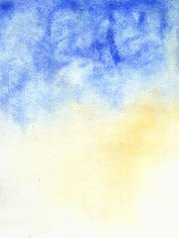 하늘색 일몰 수채화 배경