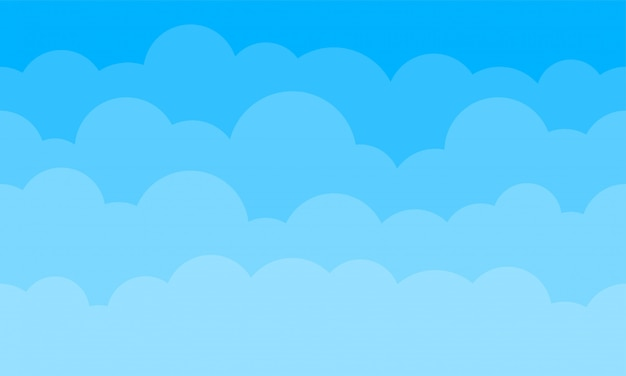 Sky clouds background.   blue gradient cartoon cloudy sky pattern seamless background