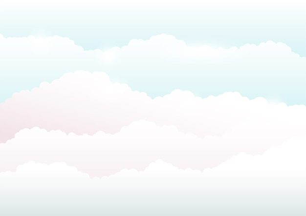 Sky and clouds background, illustration soft color