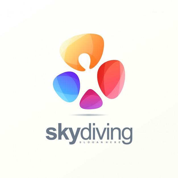 Sky diving logo