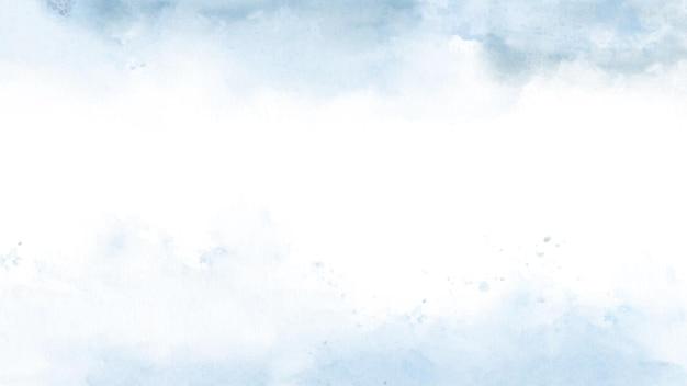 하늘 판타지 파스텔 블루 수채화 배경에 손으로 그린.