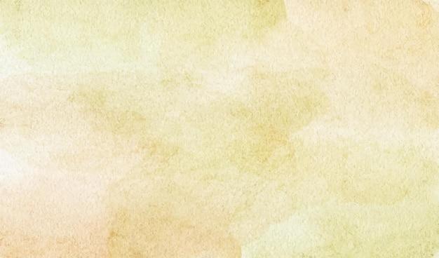 背景に手描きの空のファンタジーパステルイエローの水彩画