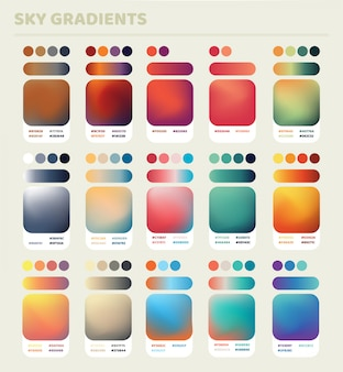 Sky gradients set