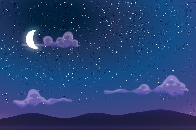 Небо в ночном фоне для онлайн-видеоконференций
