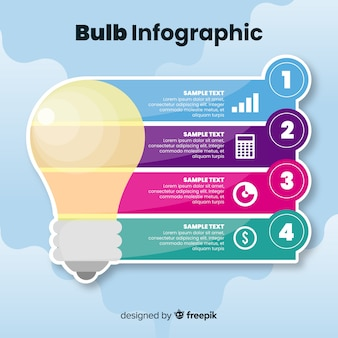 Sky light bulb infographic